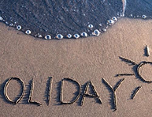 De vakantie is bijna voorbij